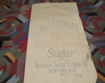 vintage National sugar sack 100 lb1910
