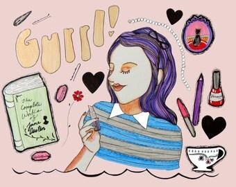 Gurrl! 8x10 Giclee Print