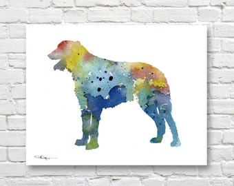 Irish Wolfhound Art Print - Abstract Watercolor Painting - Wall Decor