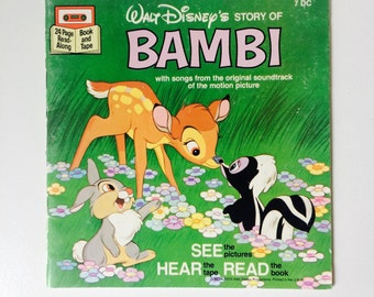 1977 Read Along Book - Bambi - Dinsey