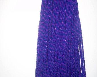purple and blue hand woven hairfall head piece cyber goth punk steampunk alternativee hairfall