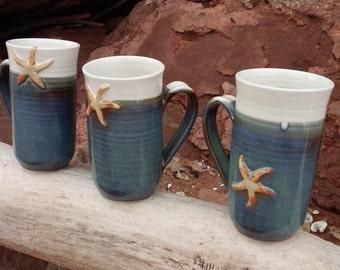 Whitecap Starfish Mugs