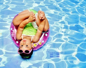 6ft.x4ft. SpLaSh! Pool Water Vinyl Photography Backdrop- Fake water Floordrop
