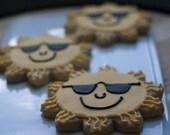 Sun Wearing Sunglasses Cookies - One Dozen