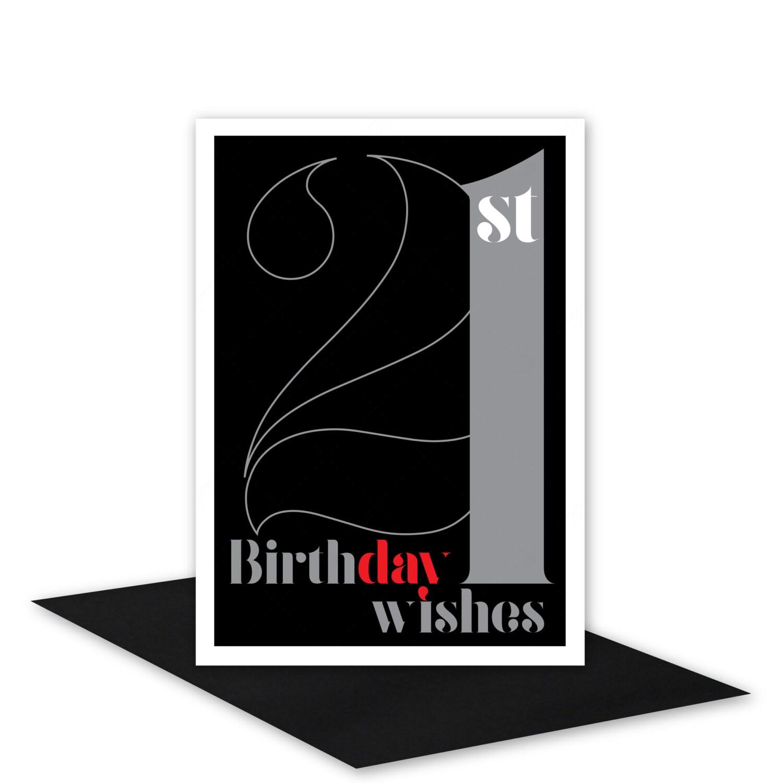 21st Birthday Wishes Card For Boy Or Girl 21 Happy Birthday