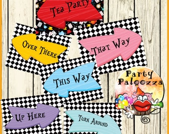 Printable Alice in Wonderland Signs