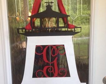 Lighthouse Monogram Door Hanger, door hanger, front door decor
