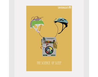 the science of sleep movie poster postcard 4'X6'