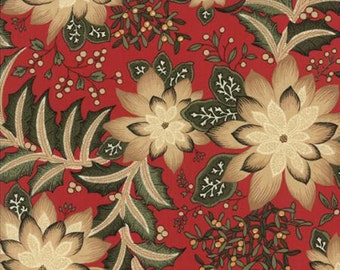 Moda Merriment- Christmas Red with Poinsettia    #32890-11