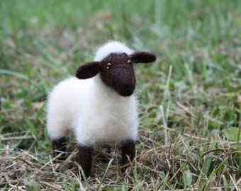 Needle Felted Standing Black-Faced Sheep