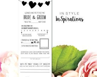 INSTANT DOWNLOAD PDF / Leave a Note for the Bride and Groom: Mad Lib