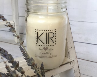 Aromatherapy Soy Candle 100% Pure  Essential Oils