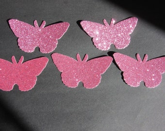 5 glitter butterfly die cuts, choose a colour