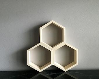 Hexagon Geometric Honeycomb Shelf