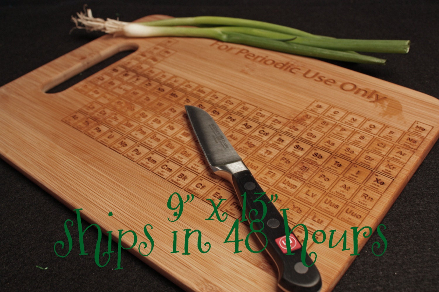 Periodic table cutting board 9x13 chemistry by theengraverave - Periodic table chopping board ...