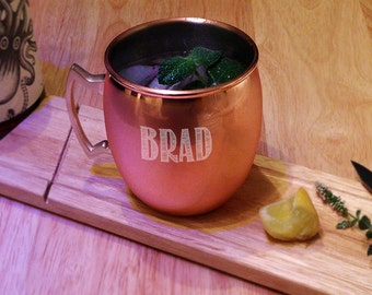Personalized Copper Moscow Mule Mug, Copper Mug, Moscow Mule, Cocktail, Monogrammed Copper Mug, Engraved Copper, Beer Mug, Stein (CS4256)