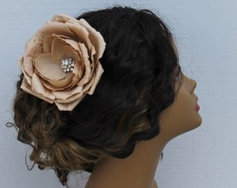 Wedding Hair Clip Rose With a Brooch  Hair Comb Weddings Accessories