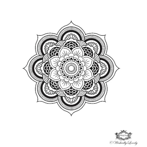 mandala temporary tattoo boho tattoo festival tattoo body. Black Bedroom Furniture Sets. Home Design Ideas