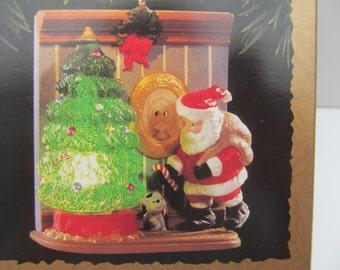 Hallmark   Ornament  1995   Wee  little   Christmas    QLX  7329- lighted  Christmas Tree Decoration