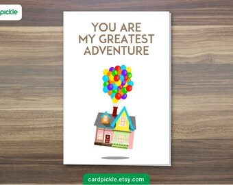 DOWNLOAD Printable Card - I Love You Card - UP Card - Happy Birthday - Happy Anniversary