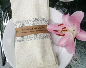 Dinner Napkins, Cotton Cloth  Napkins, Floral Cloth Napkins, Set of 4 cloth napkins, Housewarming gift, Wedding Gift, hostess gift