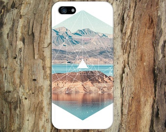White Geometric Mountains x Rustic Nature Phone Case for iPhone 6 6 Plus iPhone X  Samsung Galaxy s8 edge s6 and Note 8 4 S8 Plus Phone Case
