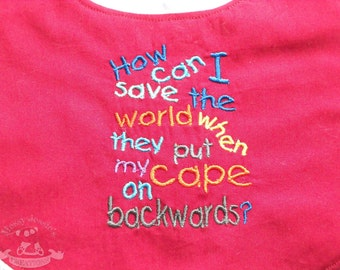 How can i save the world Bamboo Baby Bib