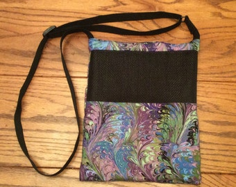 Deluxe Carry Bag, Waterproof, purple Swirlies, for Hedgehogs, Sugar Gliders, Rats, and other Small Animals