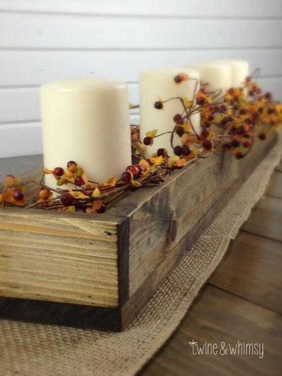 Wood box centerpiece planter mason jar by