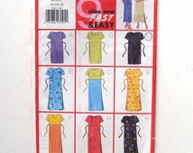 Butterick Easy Sew Pullover Dress Pattern 5418 - Uncut - Size 14+16+18