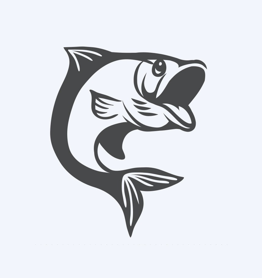 trout fish jumping out of water di cut decal