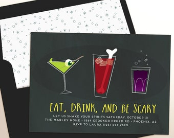 halloween party invitation costumes and cocktails printable invitation evite e vite - Evite Halloween Party