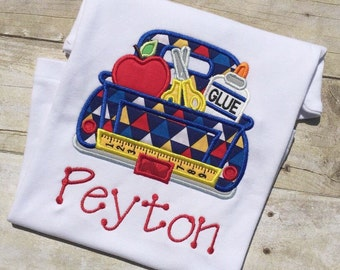 Back To School Truck Shirt, Boys Back To School Truck Shirt, Personalized Back To School Shirt, Boys Custom Clothing, Name Included