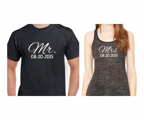 Wedding T Shirt Ideas: Couples T-Shirt And Tank Mr Mrs Shirts Mens By