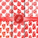 White Red Digital Papers, Scrapbook Papers DP2