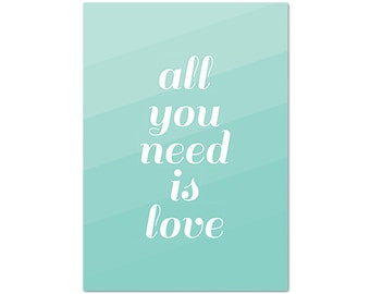 Postcard All you need is love