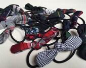 School Uniform Hair Accessories- Plaid Knot Pony Tail Holder