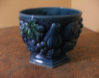Vintage 1960's INARCO JAPAN Blue Mood Indigo Footed Planter
