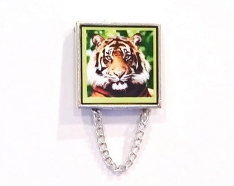 Tiger - Tri Colored Face Eyeglass Holder