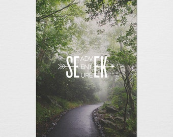 Seek Adventure Photography Typography Print