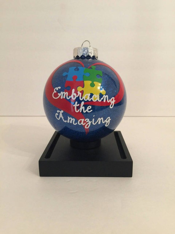 Autism Christmas Ornament Autism Awareness pictured Request