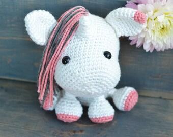 Unicorn Crochet Pattern. Una The Unicorn Amigurumi Crochet Pattern. Cute Unicorn Amigurumi Pattern. Unicorn Downloadable PDF Crochet Pattern