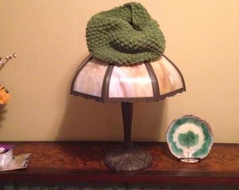 Emerald green cowl scarf