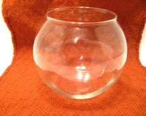 Round, Clear, Glass, Fish, Terrarium, Planter, Vase, Bowl, Centerpiece, Candle, Display, Windowsill, Supply, Accessory, Decor, Decoration, A