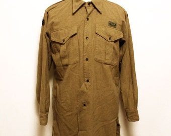 1953 vintage British army  paratrooper wool shirts made in england