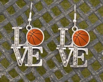 LOVE Basketball Earrings