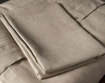 Grey Flat Sheets - Linen Bed Sheets - Linen Bedding - Gray Sheets Linens