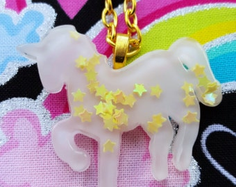 Kawaii fairy kei magical unicorn necklace