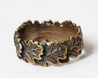 Oak leaves, Oak leaf ring, Oak leaves ring, Leaf ring, Leaves ring, Ring for woman, Ring for girl, Women rings, Gift for girlfriend, Rings