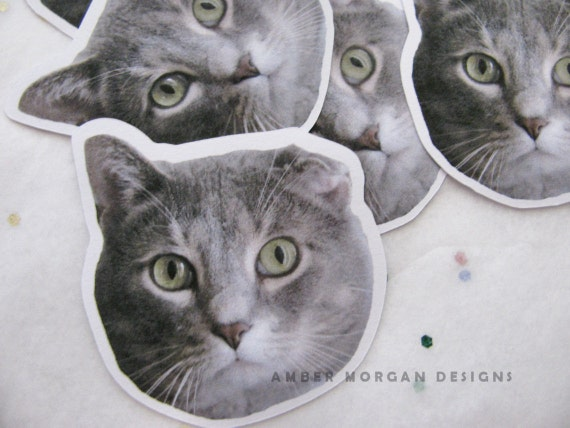 Custom Pet Stickers, Pet Portrait, Paper Stickers, Journaling, Sticker Flakes, Stationery, Scrapbooking, Animal Stickers, Pet Stickers
